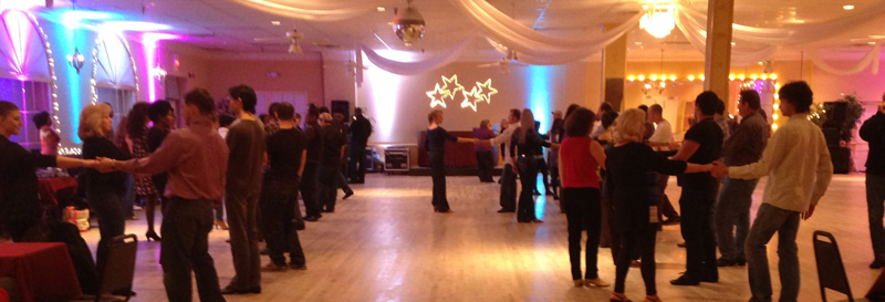 Ballroom during a dance lesson