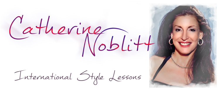 Catherine Noblitt teaching Ballroom lessons at Hollywood Ballroom Dance Center