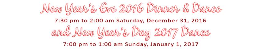 New year's Eve 2016 at Hollywood Ballroom