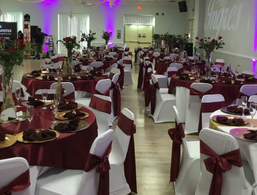 The Ballroom decorated for a private event