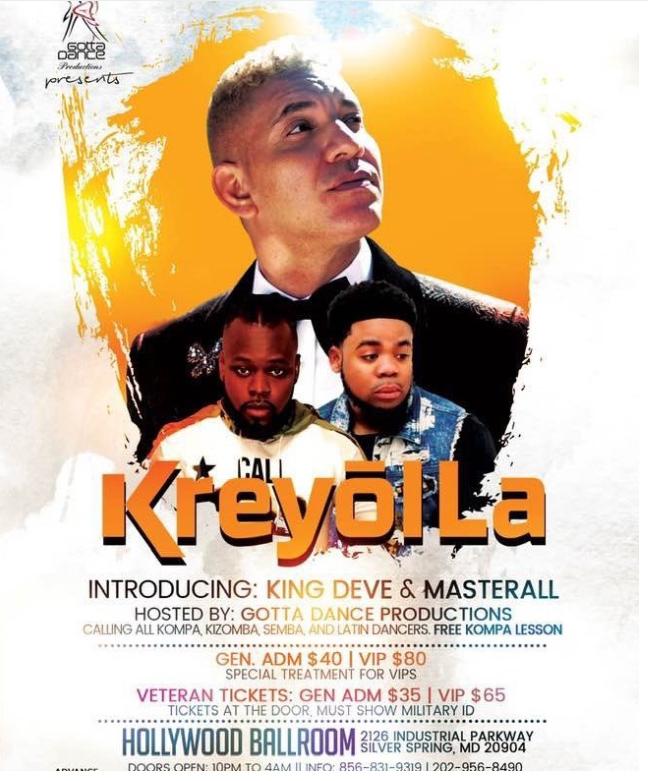 Kreyol La performs at Hollywood Ballroom. Introducing King Deve and MasterAl