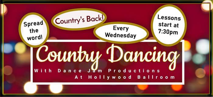 Country dancing at Hollywood Ballroom