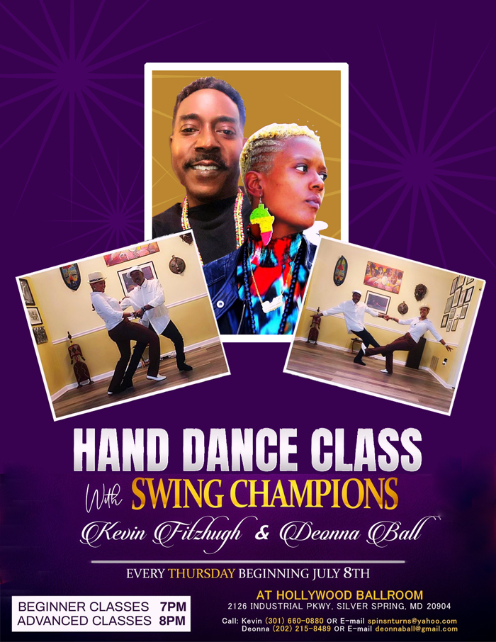 Hand Dance Classes at Hollywood Ballroom with Kevin Fitzhugh and Deonna Ball