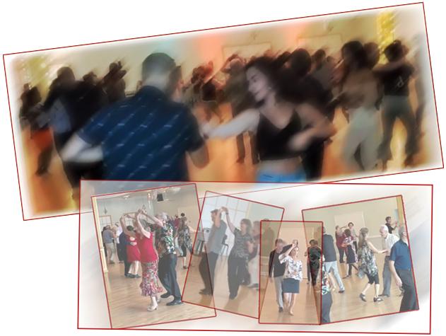 Social Dances at Hollywood Ballroom. Lots of space. Lots of fun!